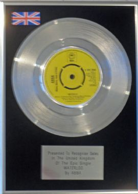 "ABBA - 7 ""  Platinum Disc - WATERLOO"